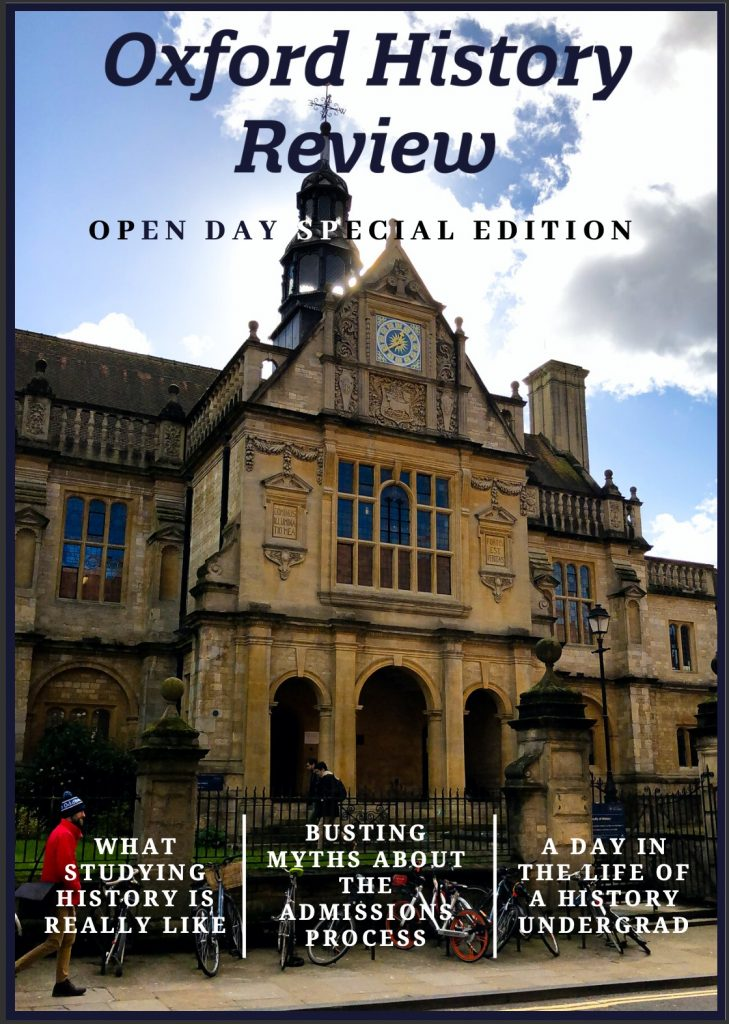 Open Day special edition Trinity Term 2020 magazine cover.