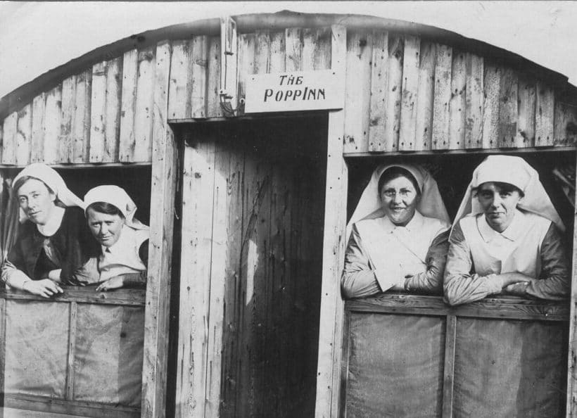 New Zealand nurses in Wisques, France in World War One, 1918.