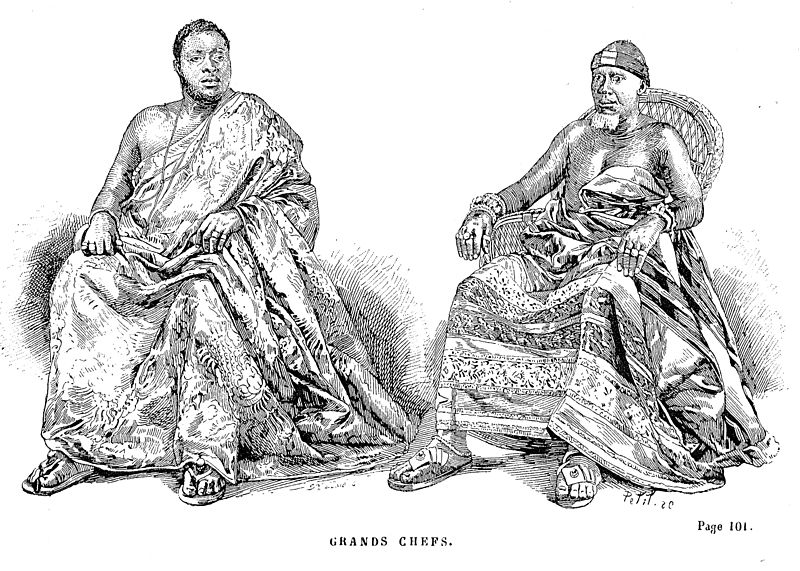 A sketch of the Asante chiefs by Jules Gros  - illustrating the OHR editors' pick of 'Akyeampong and Obeng's article on the Asante Empire.