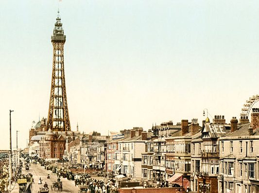 Image of Blackpool, Lancashire from the late 1800s.