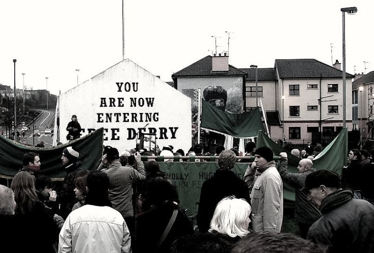 Commemoration of Bloody Sunday - almost 100 years of Northern Ireland.