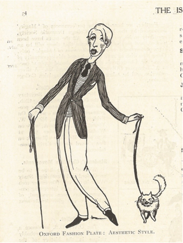 Image of an aesthete from The Isis, November 1923.