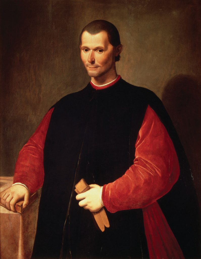 Niccolo Machiavelli, a key writer on the historiography reading list.