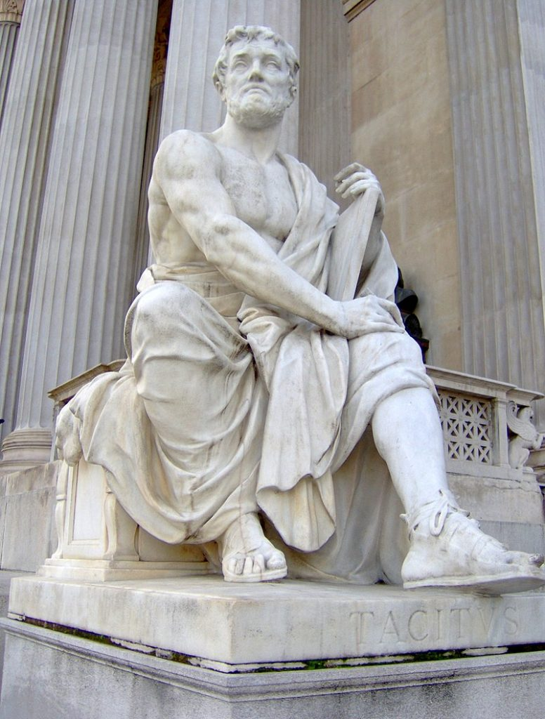 A statue of Tacitus - a key writer on the historiography reading list.